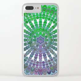 Spring Mandala Wheel Clear iPhone Case