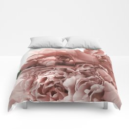 Blush Pink Floral Comforters