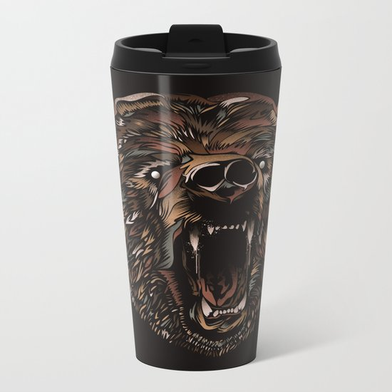 WILD BEAR Metal Travel Mug