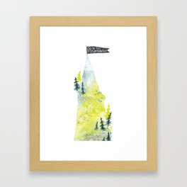 Go To The Mountaintop. Framed Art Print