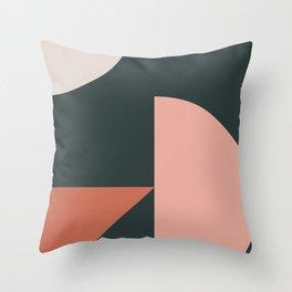 Orbit 04 Modern Geometric Throw Pillow