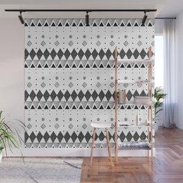 Geometric Screen Print Wall Mural