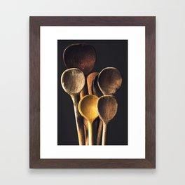 Wooden spoons Framed Art Print