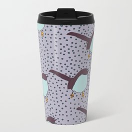 Birds And Little Polka Dots Metal Travel Mug