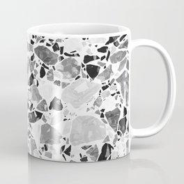 Monochrome Terrazzo Texture Coffee Mug