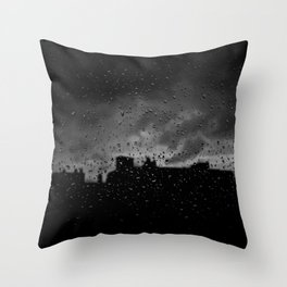 Rainy Day in Brussels Throw Pillow