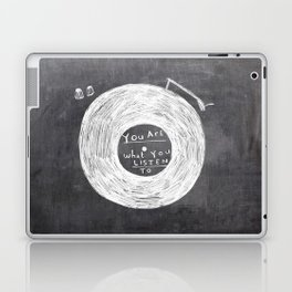 you are what you listen to, BLACK Laptop & iPad Skin
