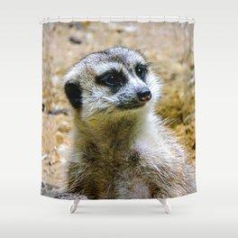 Meerkat vibin' Shower Curtain