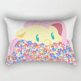 Fluttershy with flowers Rectangular Pillow