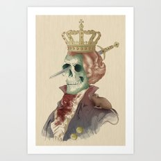 I LOVE THE KING Art Print