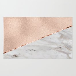 St Tropez rose gold marble Rug