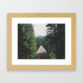 Vance Creek Bridge Framed Art Print