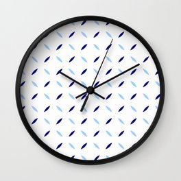 four lines 31 blue Wall Clock