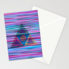 Lines and triangles Stationery Cards