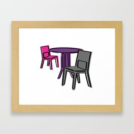 Table & Chairs 01 Framed Art Print