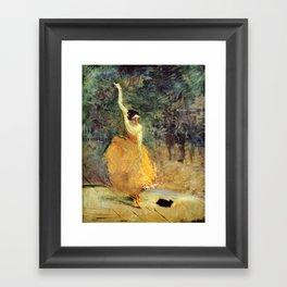 """Henri de Toulouse-Lautrec """"The Spanish Dancer"""" Framed Art Print"""