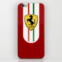 ferrari iPhone & iPod Skins featuring FERRARI by Smart Friend