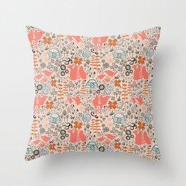 Mongolian Expanse Pattern Throw Pillow