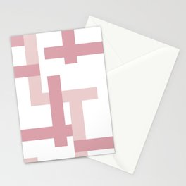 Pink + Dusty Rose | Melrose Abstract Art Stationery Cards