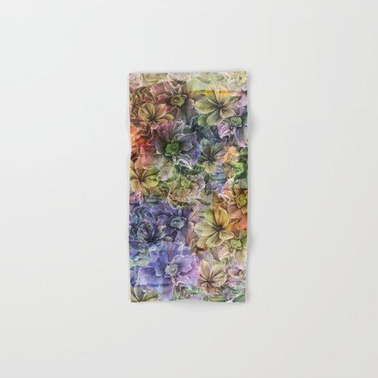 Floral painterly pattern Hand & Bath Towel
