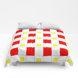 Tribute to mondrian 2- piet,geomtric,geomtrical,abstraction,de  stijl , composition. Comforters