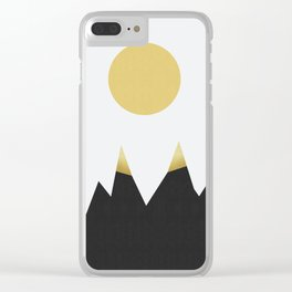 Forest with gold II Clear iPhone Case