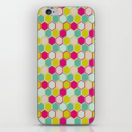 Multicolored Hexagon Shapes Pattern iPhone Skin
