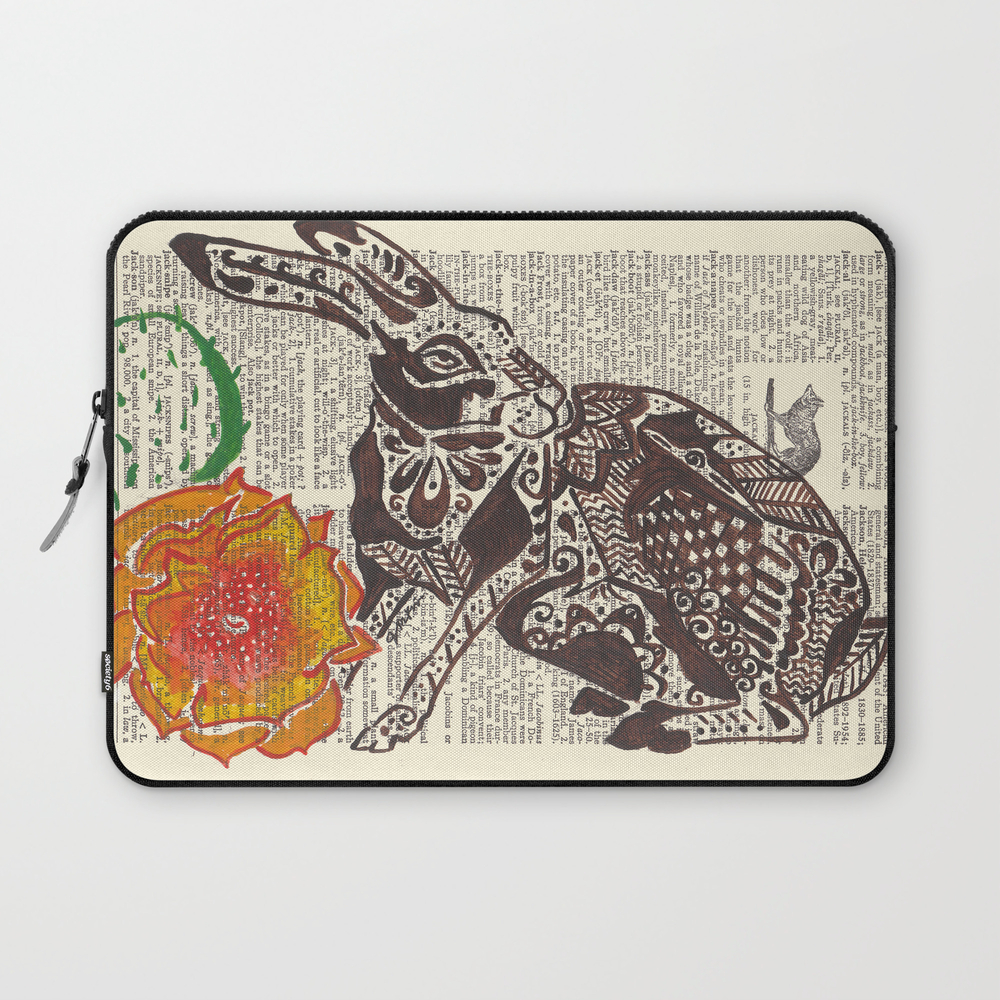 Jumpin' Jack Flash (jack Rabbit And Cactus Flower… Laptop Sleeve LSV928718