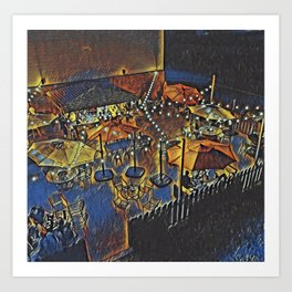 Cabos outside bar Art Print