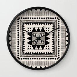 Black & White Symmetrical Pattern #1 Wall Clock