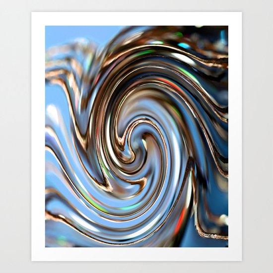 Wire spiral Art Print