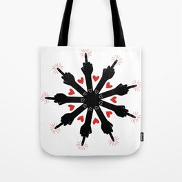 I Love You, But Go Away Tote Bag