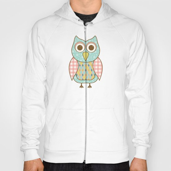 Owl on Tree Branch Hoody