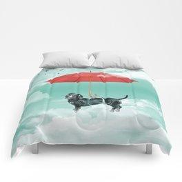 Dachshund chute Comforters