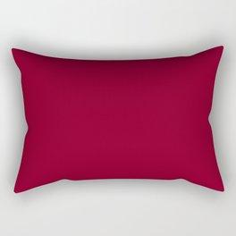 deep dark red or burgundy Rectangular Pillow