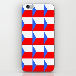 flag of Czech 3 -Czechia,Česko,Bohemia,Moravia, Silesia,Prague. iPhone Skin