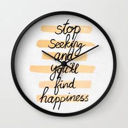 Seeking Happiness Wall Clock
