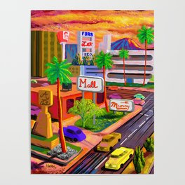 Camelback Road Sunset Phoenix Arizona Poster