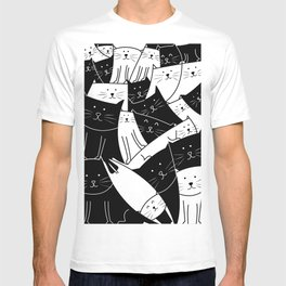 The Cats are Watching - B/W T-shirt
