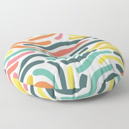 Ribbons colorful pattern Floor Pillow