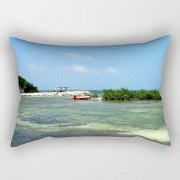 Red Boat Rectangular Pillow
