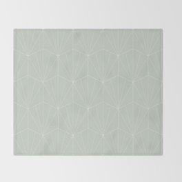 Gisela Geometric Line Pattern - Sage Throw Blanket