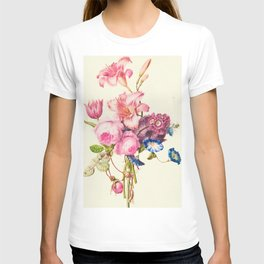 Vintage flowers watercolor painting #8 T-shirt