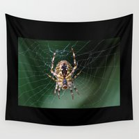 spider Wall Tapestries featuring Spider by Dora Birgis
