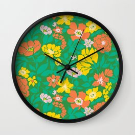 Leaf and Bloom Wall Clock