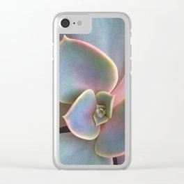 Succulent Dew Drop Clear iPhone Case