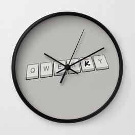 Qwerky Wall Clock