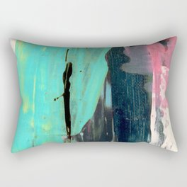 [Still] Hopeful [2] - a bright mixed media abstract piece Rectangular Pillow