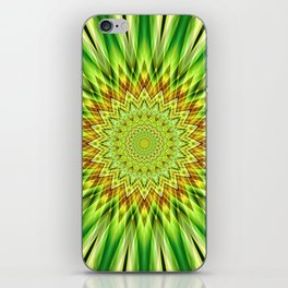 Mandala green Star iPhone Skin