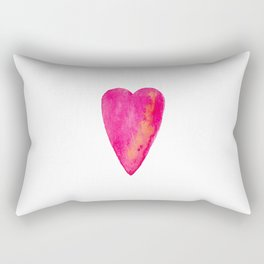 Pink Heart Full Of Love Watercolor Rectangular Pillow